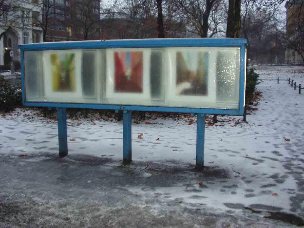 drei tropische Bilder im Berliner Eis